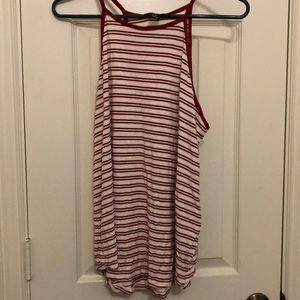 Halter striped shirt